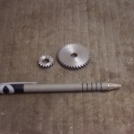 Small helical gears for an antique phonograph