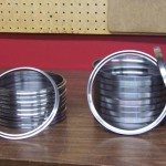 Replacement ball bearing races for farm tractors.