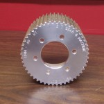 "Blower pulley 8 mm GT 49 tooth, 2"" bore, 2.750 B/C, 3.500 wide, 6061 T6 Aluminum. $88.00"